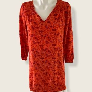 NWT Old Navy Long Sleeve Orange Floral Dress